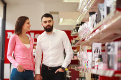 Young couple in the store Royalty Free Stock Photo
