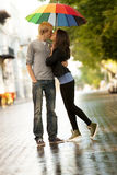Young couple on the street Royalty Free Stock Images