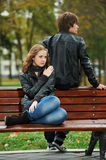 Young couple in stress relationship Stock Photography