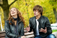 Young couple in stress relationship Stock Image
