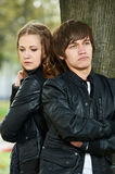 Young couple in stress relationship Royalty Free Stock Images