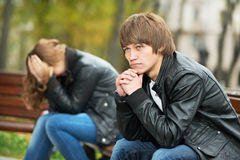 Young couple in stress relationship Stock Photo