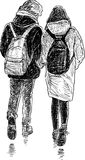 Young couple on a stroll Stock Images