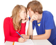 Young couple students studying together Royalty Free Stock Images