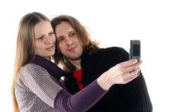 Young couple in studio Stock Photos
