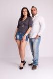 Young couple in studio Stock Photo