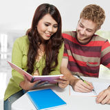 Young couple study together Stock Photos