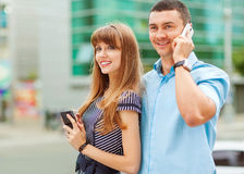 Young couple successful businessmen Royalty Free Stock Photo