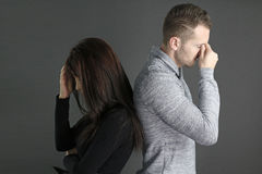 Free Young Couple Sulking Royalty Free Stock Image - 71278376
