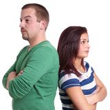 Young couple sulking Royalty Free Stock Image