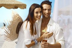 Young couple on summer holiday Stock Photos