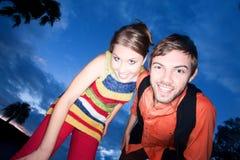 Young Couple at Sunset Stock Photos