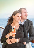 Young couple on sunset cruise Royalty Free Stock Images