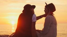 Young Couple At Sunset stock video
