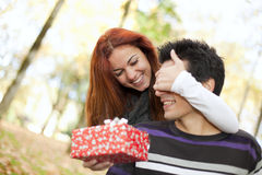 Young couple surprise royalty free stock image