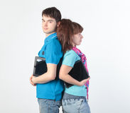 A young couple with a Tablet PC Royalty Free Stock Image