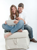 Young couple and tablet Stock Photo