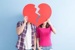 Young couple take broken heart Stock Image