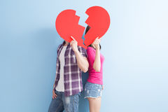 Young couple take broken heart Stock Photography