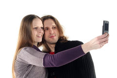 Young couple taking photo Royalty Free Stock Image