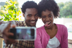 Young couple taking selfie Royalty Free Stock Image