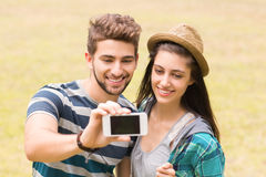 Young couple taking a selfie Stock Photos