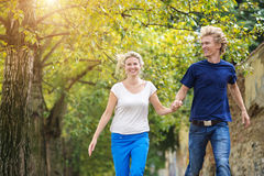 Young couple taking a walk Stock Image