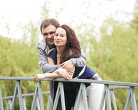 Young couple taking a walk Royalty Free Stock Images