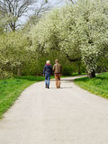 Young couple taking a walk Stock Photo