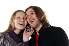 Young couple are talking Stock Image