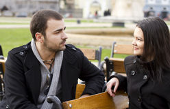Young couple talking Stock Photography