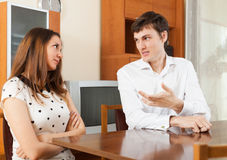 Young couple talking royalty free stock image