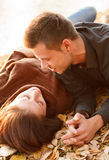 Young couple talking stock image
