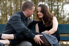Young couple tempting Royalty Free Stock Images