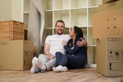 Young couple in their home Royalty Free Stock Photography