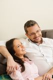 Young couple in their home Royalty Free Stock Images