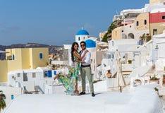 Young couple on their honeymoon Stock Photos