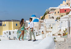 Young couple on their honeymoon Royalty Free Stock Images