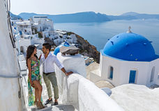 Young couple on their honeymoon royalty free stock image