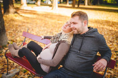 Young couple thinking about the future Royalty Free Stock Images