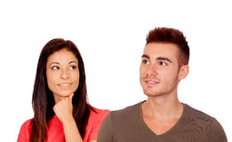 Young couple thinking Royalty Free Stock Photo