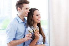 Young couple toasting Royalty Free Stock Image