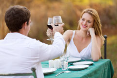 Young couple toasting Stock Photo