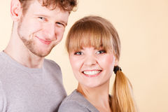 Young couple together hugging. Stock Photos