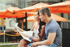 Young couple tourists Royalty Free Stock Photos