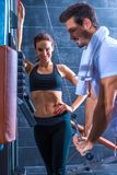 Young couple training in the Gym Royalty Free Stock Photo