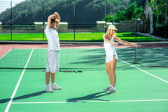 Young couple training Royalty Free Stock Photos