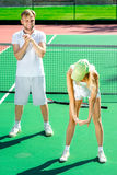 Young couple training Royalty Free Stock Images
