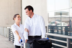 Young couple travel Stock Images