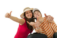 Young couple traveling Royalty Free Stock Photo